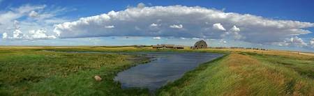 Panoramic Of Old Abandoned Farmstead, Saskatchewan