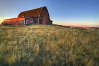 Old Red Barn Near Val Marie, Saskatchewan, Canada