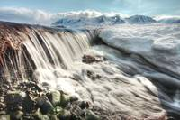 Meltwater Creating Mini Waterfall, Northern Britis