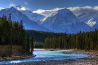 Athabaska River, Along The Columbia Icefields Park
