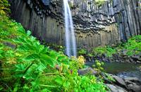 Svartifoss Waterfall, Skaftafell National Park, So