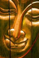 Hong Kong, Central, Wooden Buddha Face