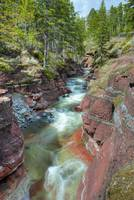 River Through Canyon, Waterton Lakes National Park