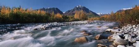 Granite Creek In Autumn, Southcentral, Alaska