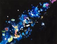 Cosmic Sparks, Abstract Of Sparks And Darkness