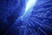 Ice Cave Spencer Glacier Kenai Peninsula Winter Al