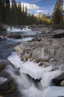 Waterfall On Sheep River, Kananaskis, Alberta, Can