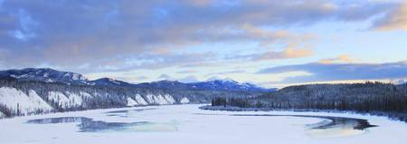 Teslin River At Sunset, Teslin, Yukon