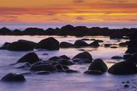 Sunset And Rocky Coastline, Newfoundland