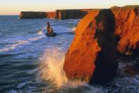 Sandstobe Cliffs, La Belle Anse, Magdalen Islands,