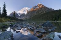 Mount Edith Cavell, Cavell Lake, Jasper National P