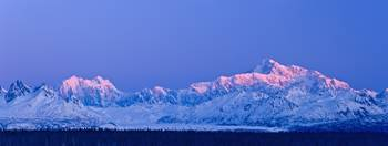 Sunrise Over Mt. McKinley And The Alaska Range, De