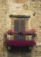 Flower Covered Balcony, Colle Di Val D'Elsa Italy