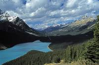 Lake And Mountains In The Canadian Rockies