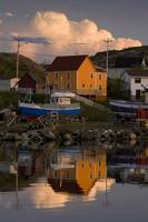 Reflection Of House In Water, Newfoundland And Lab