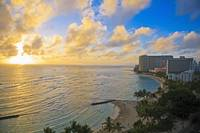 Hawaii, Oahu, Waikiki, View Of The Pacific Ocean A