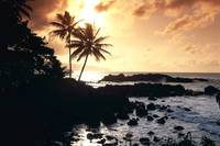Hawaii, Oahu, North Shore, Rocky Shoreline With Pa
