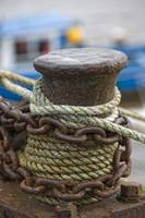 Rope And Chain On Post