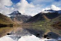 Mountains And Lake, Lake District, Cumbria, Englan