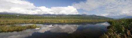 Panoramic scenic of Potter Marsh near Anchorage in