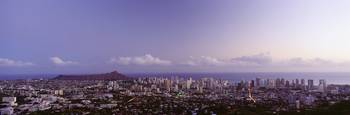 Hawaii, Oahu, Scenic View Of Waikiki And Diamond H