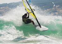 Wind Surfing In The Ocean, Tarifa, Cadiz, Andalusi