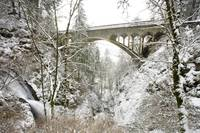 Winter, Shepperd's Dell, Columbia River Gorge, Or