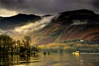 Boat On Lake Derwent, Cumbria, England