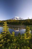 Lake And Mount Rainier, Mount Rainier National Par