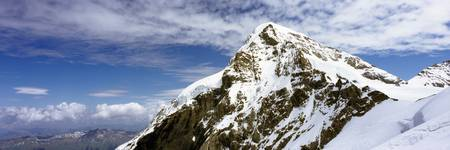 Summit Of Monch Mountain In Bernese Alps