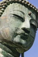 Face Of The Daibutsu Or Great Buddha, Close Up