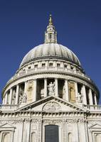 Dome Of St Pauls Cathedral, Close Up London, Engl