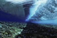Micronesia, Yap, Ocean Swell Seen From Underwater