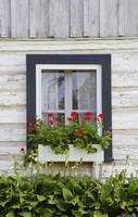 Log Home And Flower Box In The Window Iron Hill,