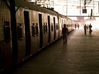 Passengers And Trains In A Train Station, Mumbai,I