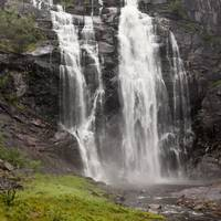 Waterfalls Over A Cliff Norway