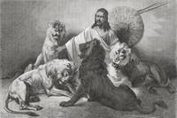 Tewodros Surrounded By Lions. From El Mundo En La