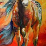 """HIGH PLAINS WAR PONY"" by MBaldwinFineArt2006"