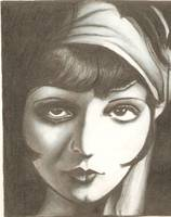 Clara Bow drawing