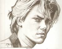 River Phoenix drawing