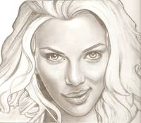 Scarlett Johansson drawing