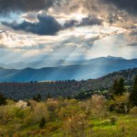 Blue Ridge Parkway North Carolina Mountains Gods C Art Prints & Posters by Dave Allen