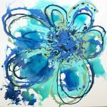 """Blue Abstract Splash"" by Aneri"