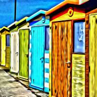 Beach Huts Art Prints & Posters by Paul Stevens
