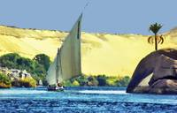 Sailing down the Nile river