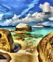 Superyacht Eclipse near Virgin Gorda