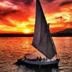 """sunset sailing on the Nile river"" by who"