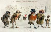 The Kindly Robin, Victorian Christmas card