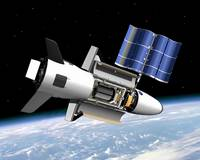 X 37 B Orbital Test Vehicle with Satellite