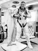 Neil Armstrong getting ready for space